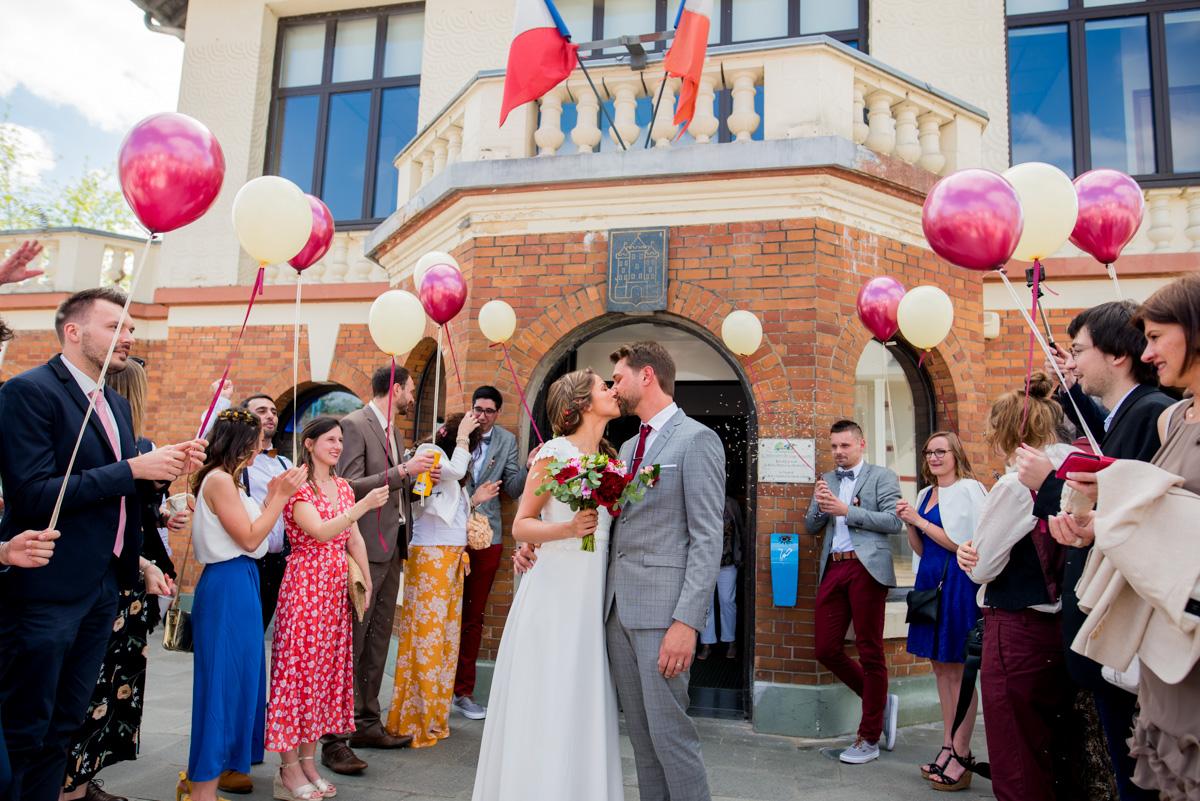 sortie mairie mariage ballons arras