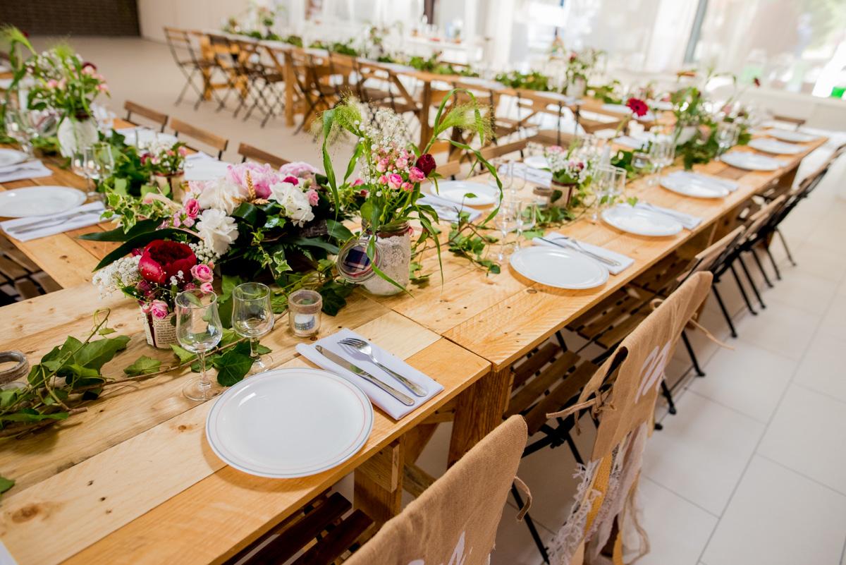 décoration table mariage champêtre arras