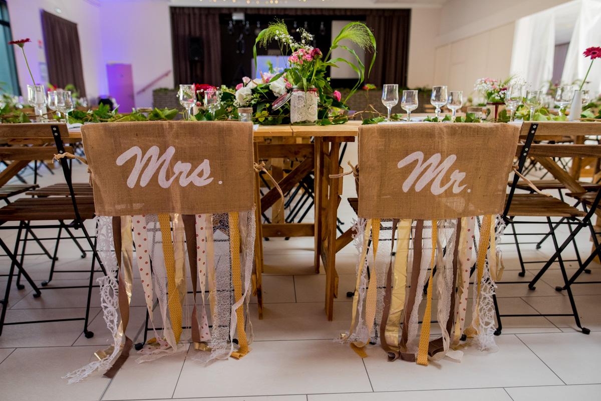decoration chaise mariage champêtre arras